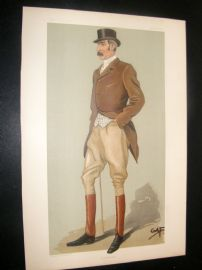 Vanity Fair Print 1898 Capt. David Longfield Beatty, Sport Rider